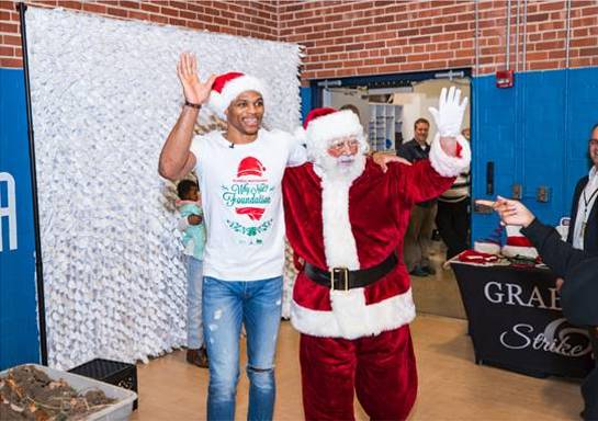 Russell Westbrook and his best friend Santa