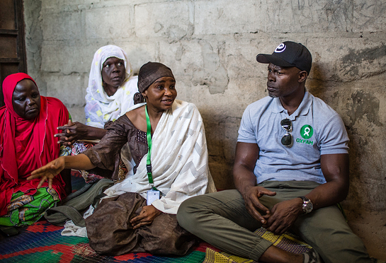 Djimon Hounsou in Nigeria with Oxfam