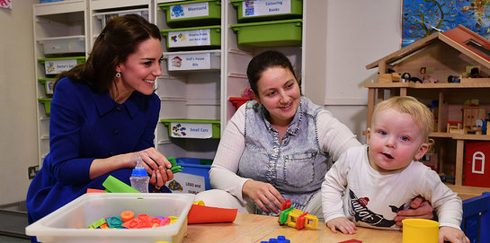 The Duchess of Cambridge visits the Anna Freud Centre's Early Years Parenting Unit