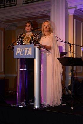 Pamela Anderson and Mary Matalin hosted PETA's bipartisan bash