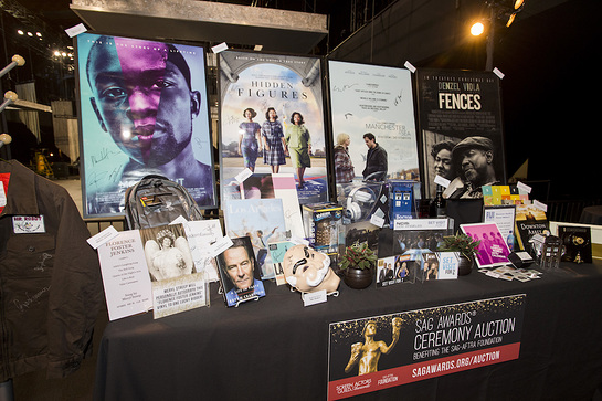 Signed collectibles and items from the annual The SAG Awards Ceremony Auction benefiting the SAG-AFTRA Foundation