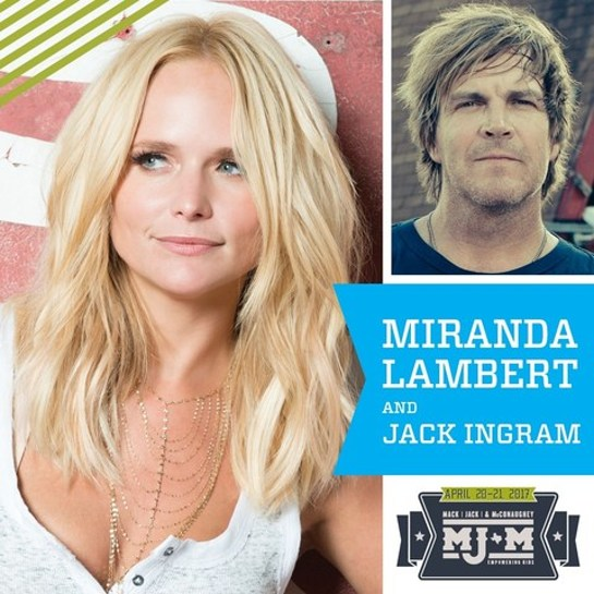 Mack, Jack & McConaughey Announces Miranda Lambert to Perform at ACL Live at The Moody Theater