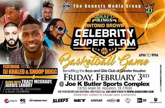 DraftKings Antonio Brown Super Slam Celebrity Basketball Game
