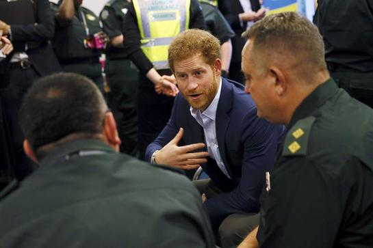 Prince Harry visits the London Ambulance Service to help kick off this year's Time to Talk Day