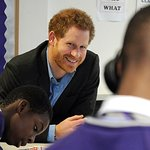 Prince Harry Visits Nottingham To See The Work Of Full Effect And Coach Core