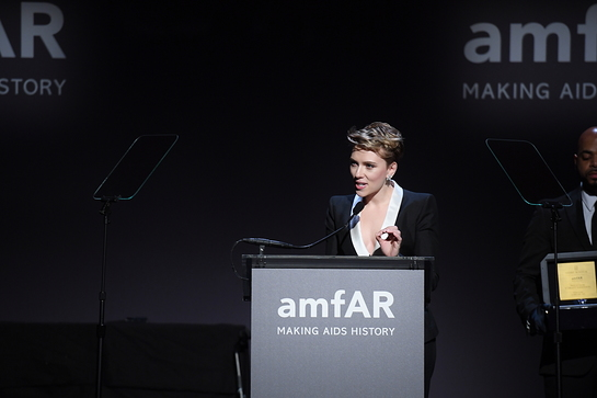 Scarlett Johansson Honored by amfAR