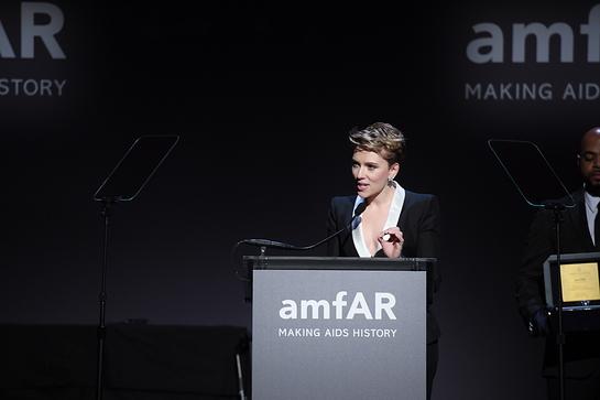 Scarlett Johansson Honored by amfAR