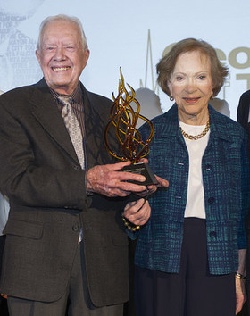 The Georgia Institute of Technology awarded the Ivan Allen Jr. Prize for Social Courage to former President and First Lady Jimmy and Rosalynn Carter