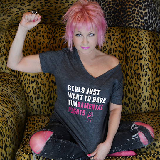 Cyndi Lauper Launches Girls Just Want To Have Fundamental Rights t-shirt