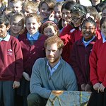 Prince Harry Visits The Queen's Commonwealth Canopy Project At Epping Forest