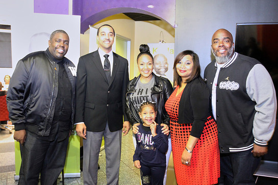 St. Jude patient Trinity and her parents, along with gospel music artists Erica Campbell and William McDowell