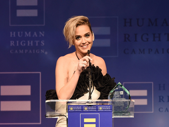 Katy Perry Honored At Human Rights Campaign's 2017 Los Angeles Gala