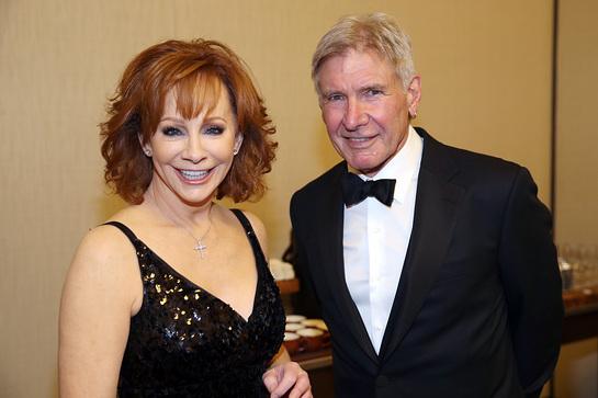 Reba McEntire and Harrison Ford