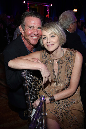 Dennis Quaid and Sharon Stone
