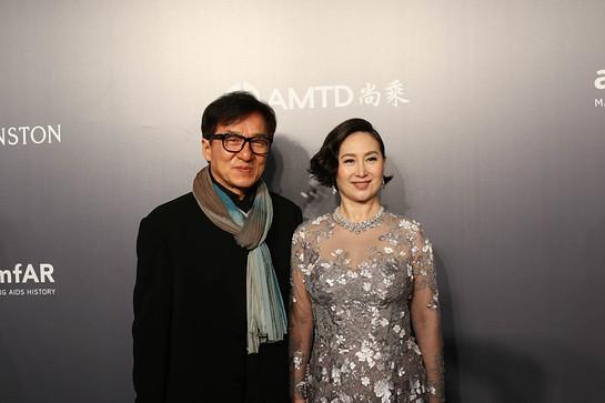 Jackie Chan at amfAR Gala Hong Kong