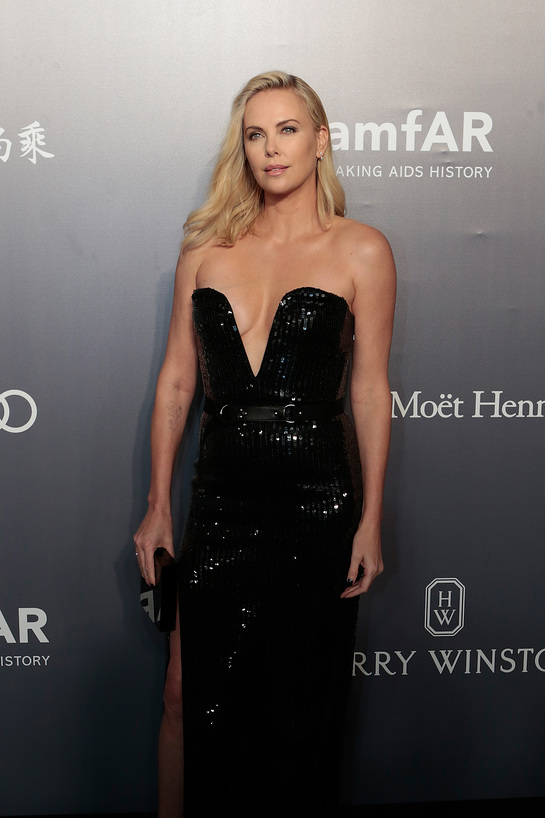 Charlize Theron at amfAR Hong Kong Gala