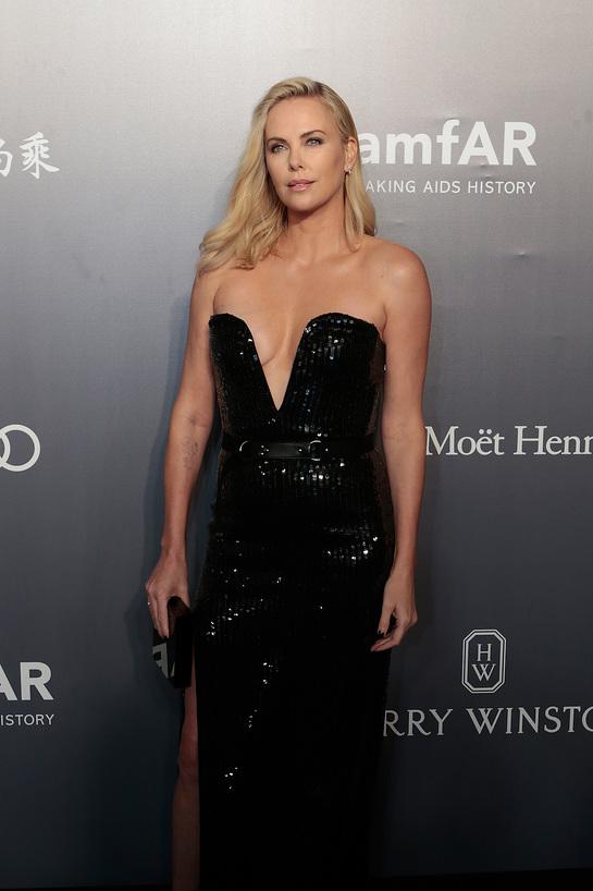 Charlize Theron at amfAR Hong Kong Gala