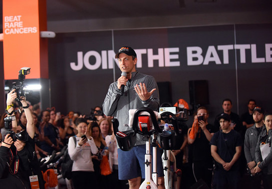 Seth Meyers at a Cycle for Survival event in New York on March 12