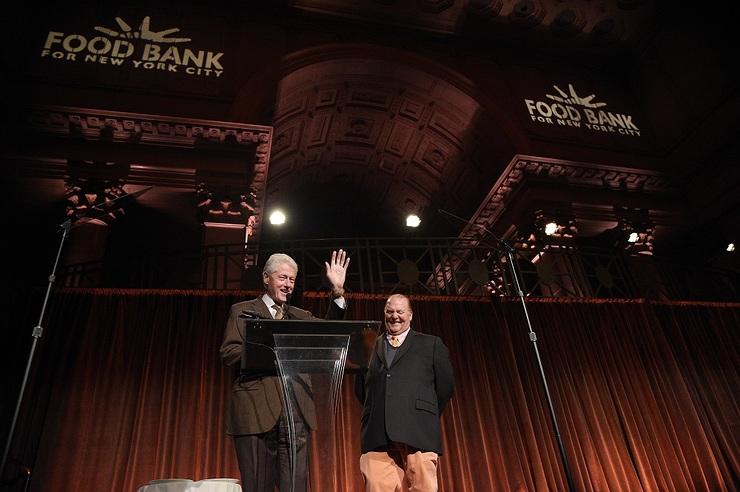 Bill Clinton and Mario Batali at Food Bank for New York City Can Do Awards