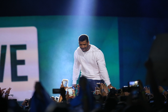 Russell Wilson at WE Day