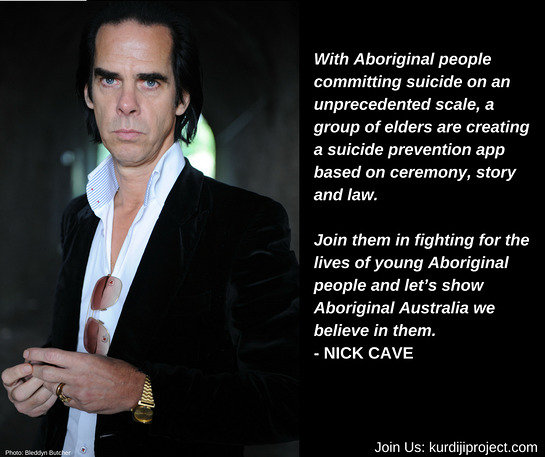 Nick Cave Supports the Warlpiri community of Lajamanu in the Australian Tanami desert