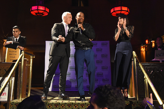 Ja Rule performs onstage with Geoffrey Zakarian and Bethenny Frankel at the City Harvest's 23rd Annual Evening Of Practical Magic