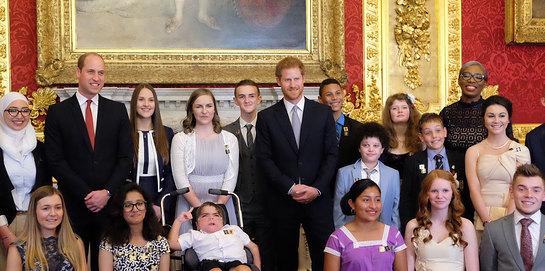 The Duke of Cambridge & Prince Harry present The Diana Awards