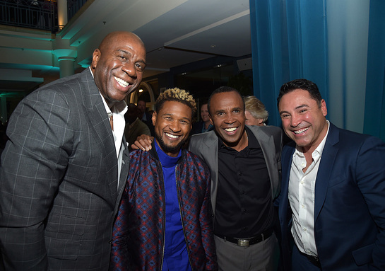 Magic Johnson, Usher, Sugar Ray Leonard, Oscar De La Hoya