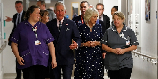Prince of Wales and The Duchess of Cornwall visit Royal London Hospital