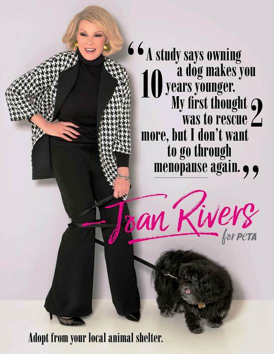 Joan Rivers PETA Ad