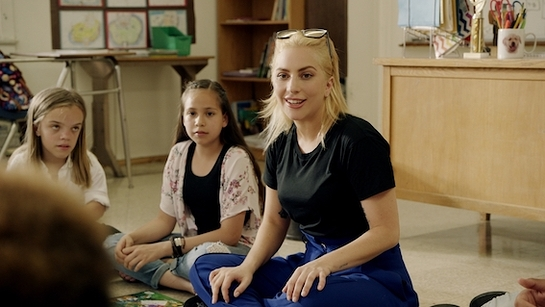 Lady Gaga recently met with students in California during the filming of the upcoming Public Service Announcement for DonorsChoose.org and Born This Way Foundation