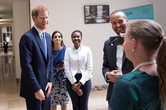 Prince Harry visits the London School of Hygiene and Tropical Medicine