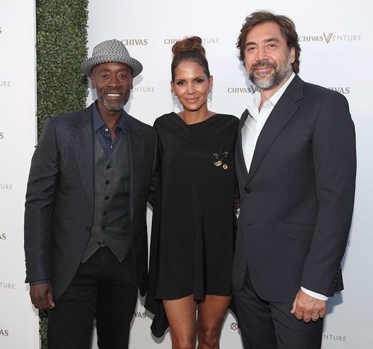 Don Cheadle, Halle Berry and Javier Bardem at The Chivas Venture $1m Global Startup Competition