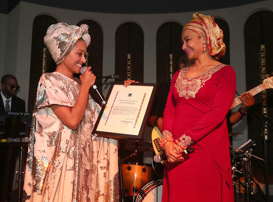 Kat Graham presented Certificate of Merit in appreciation her philanthropic work in the Congo