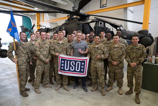 Bryan Cranston During USO Tour of Germany and UK