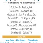 Joan Baez And Steve Earle Join Stars For 2017 Lampedusa: Concerts For Refugees Tour
