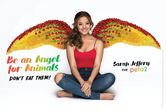 Sarah Jeffery For PETA