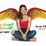 Sarah Jeffery Is peta2's Winged Vegan Angel