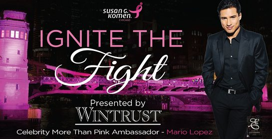 Komen Chicago will hold its Ignite the Fight Gala presented by Wintrust on Oct. 21