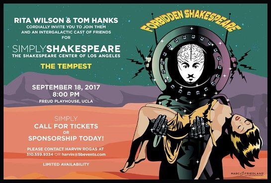 Rita Wilson and Tom Hanks host Forbidden Shakespeare