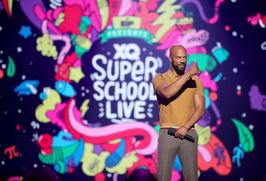 Common speaks onstage during the XQ Super School Live