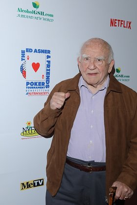 Ed Asner at Celebrity Poker Tournament