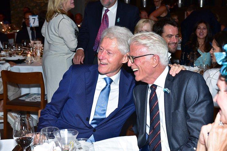 Bill Clinton And Ted Danson At Oceana Gala
