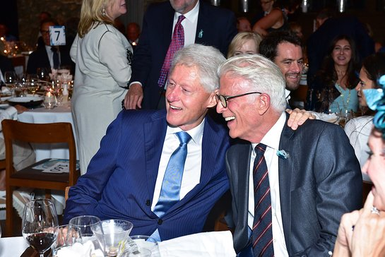 Bill Clinton And Ted Danson At Oceana Gala