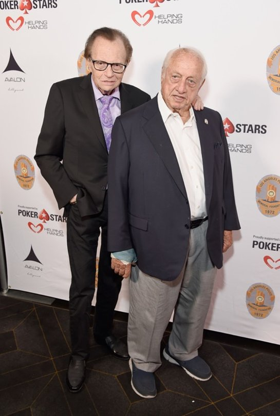 Larry King and Tommy Lasorda as they celebrated Tommy's 90th birthday