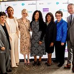 Emma Stone Attends Billie Jean King Leadership Initiative Luncheon