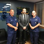 Nicolas Cage Visits U.S. Coast Guard Aviation Training Center