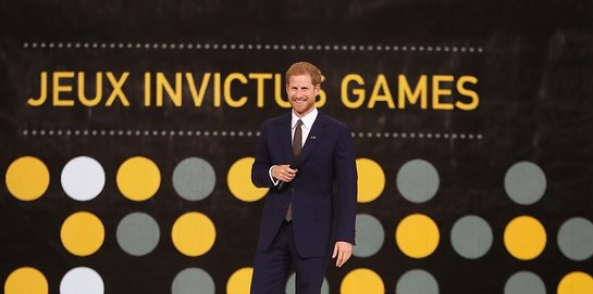 Prince Harry at the opening ceremony for The Invictus Games