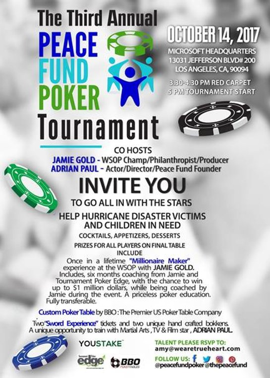 3rd Annual PEACE Fund Poker