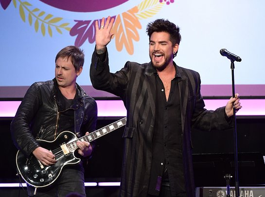 Adam Lambert performs onstage at Point Honors Los Angeles 2017